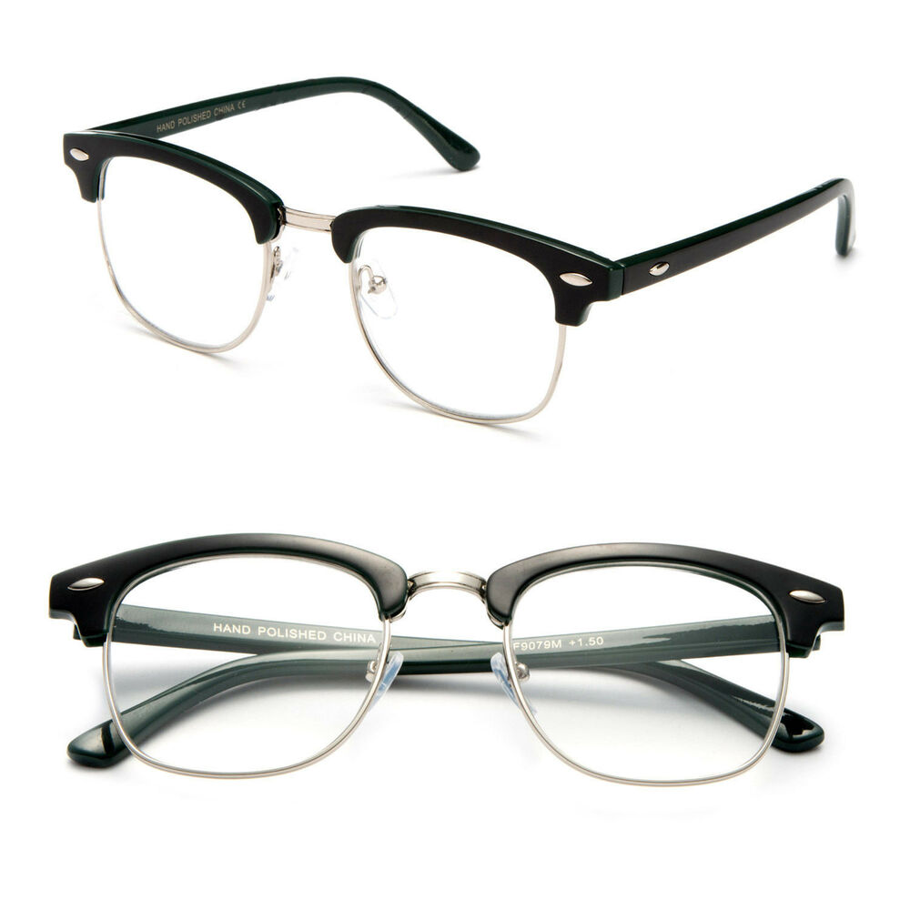 Half Frame Vintage Style Reading Prescription Glasses 2 ...