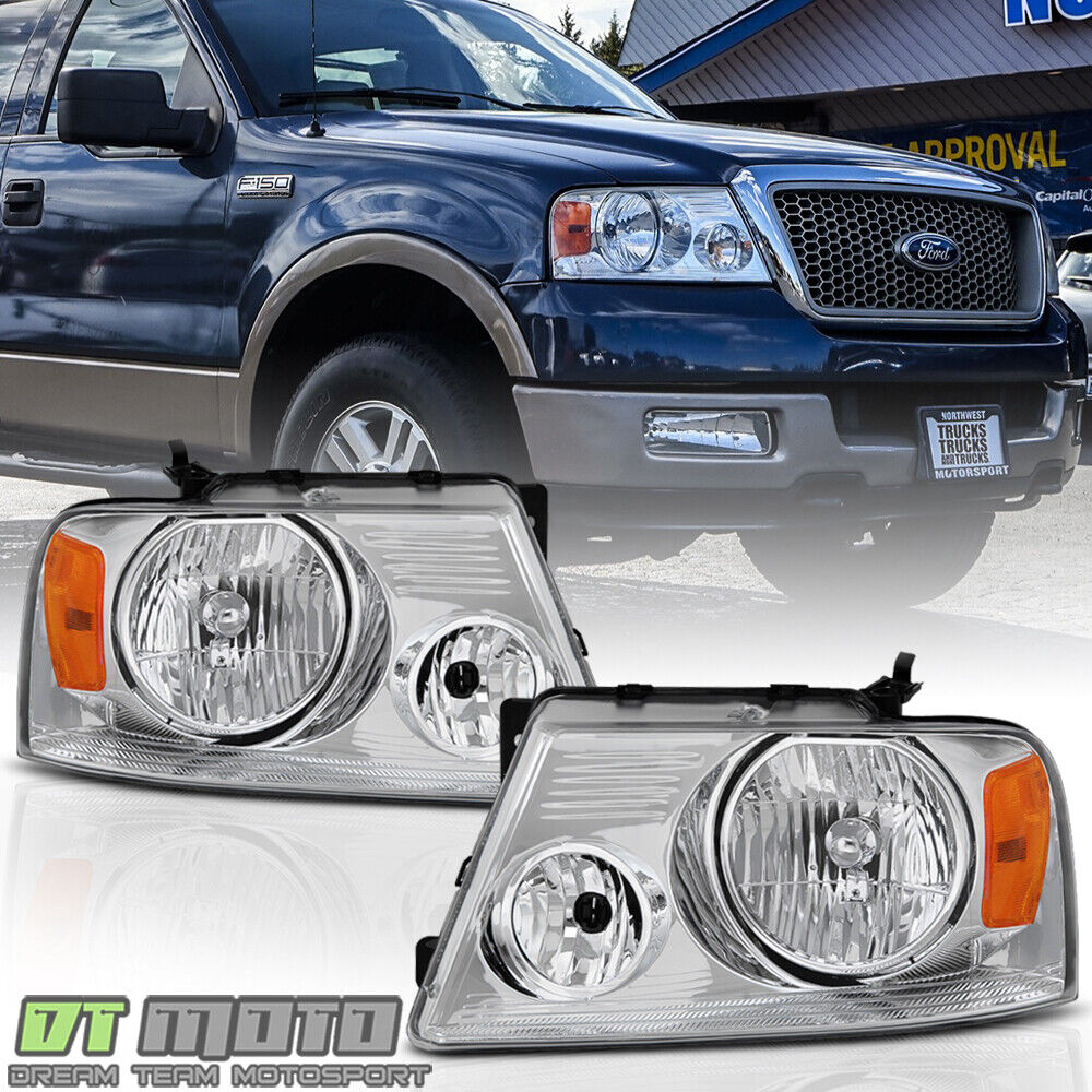 Ford F150 99: 2004-2008 Ford F-150 F150 Pickup Headlights Headlamps Left
