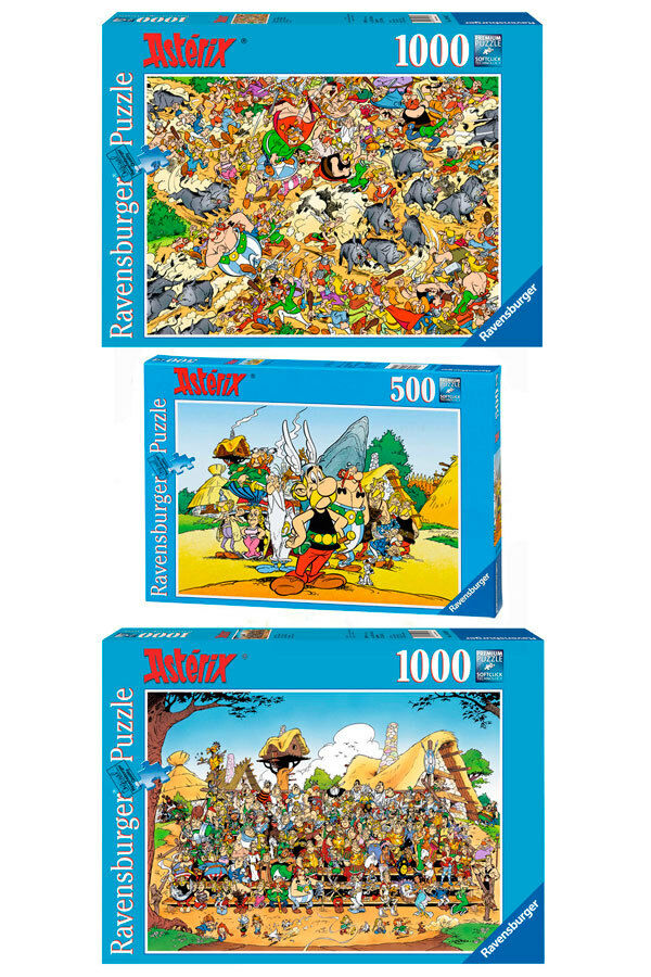 ravensburger erwachsenen puzzle 500 oder 1000 teile asterix obelix ebay. Black Bedroom Furniture Sets. Home Design Ideas
