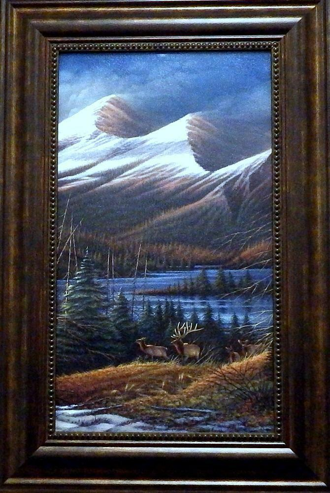 Terry Redlin Quot Master Of The Valley Quot Textured Elk Print