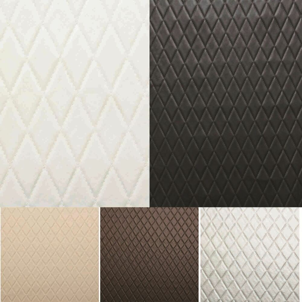 diamond stitch embossed padded luxury camper car upholstery faux leather fabric ebay. Black Bedroom Furniture Sets. Home Design Ideas