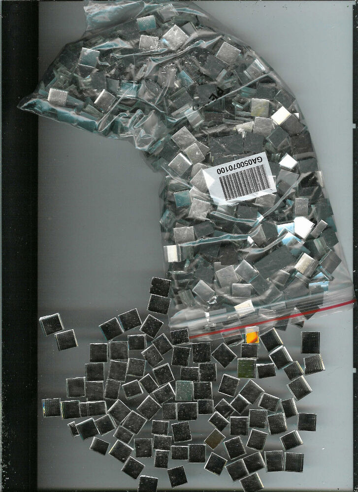 100 teeney tiny 1 4 silver mirror mosaic tiles buy 3 get for Glass and mirror craft
