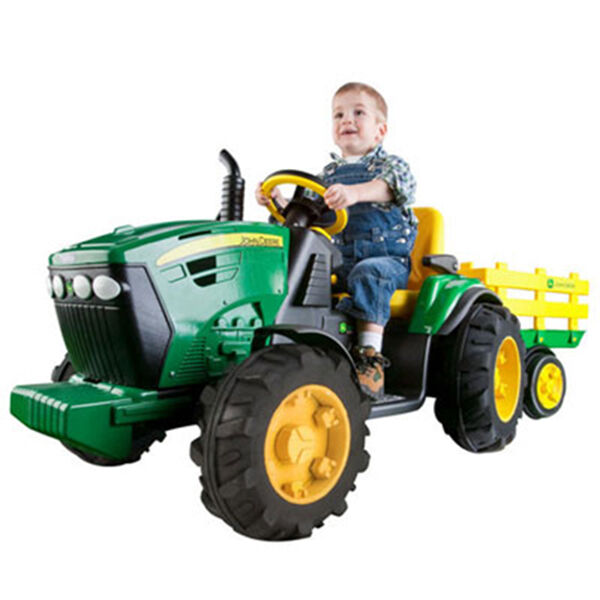Tractor With Radio : John deere v ride on tractor and trailer for kids