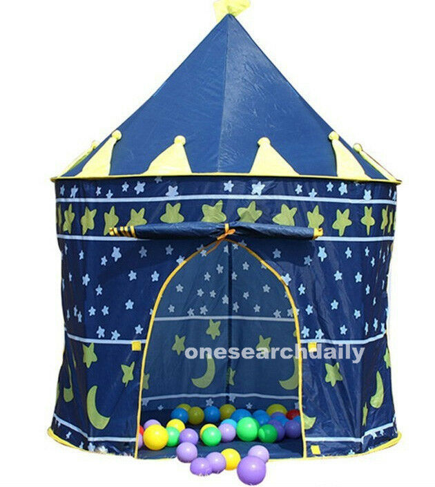 Boy Tent Toy : Portable blue baby boys folding tent play house castle