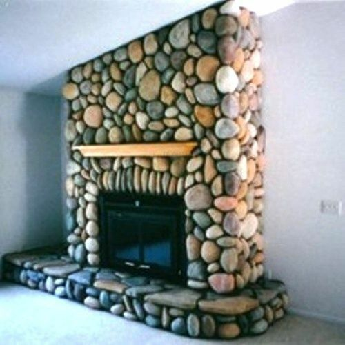 12 river rock moulds oor 04 make 1000s of cement stones for fireplaces walls ebay - Beautiful stone fireplaces that rock ...