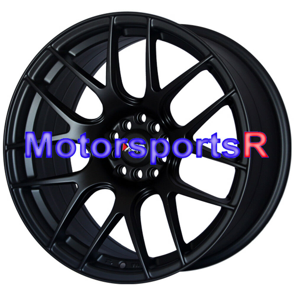 XXR 530 Flat Black 17 17x8.25 Wheels Rims Concave 5x114.3