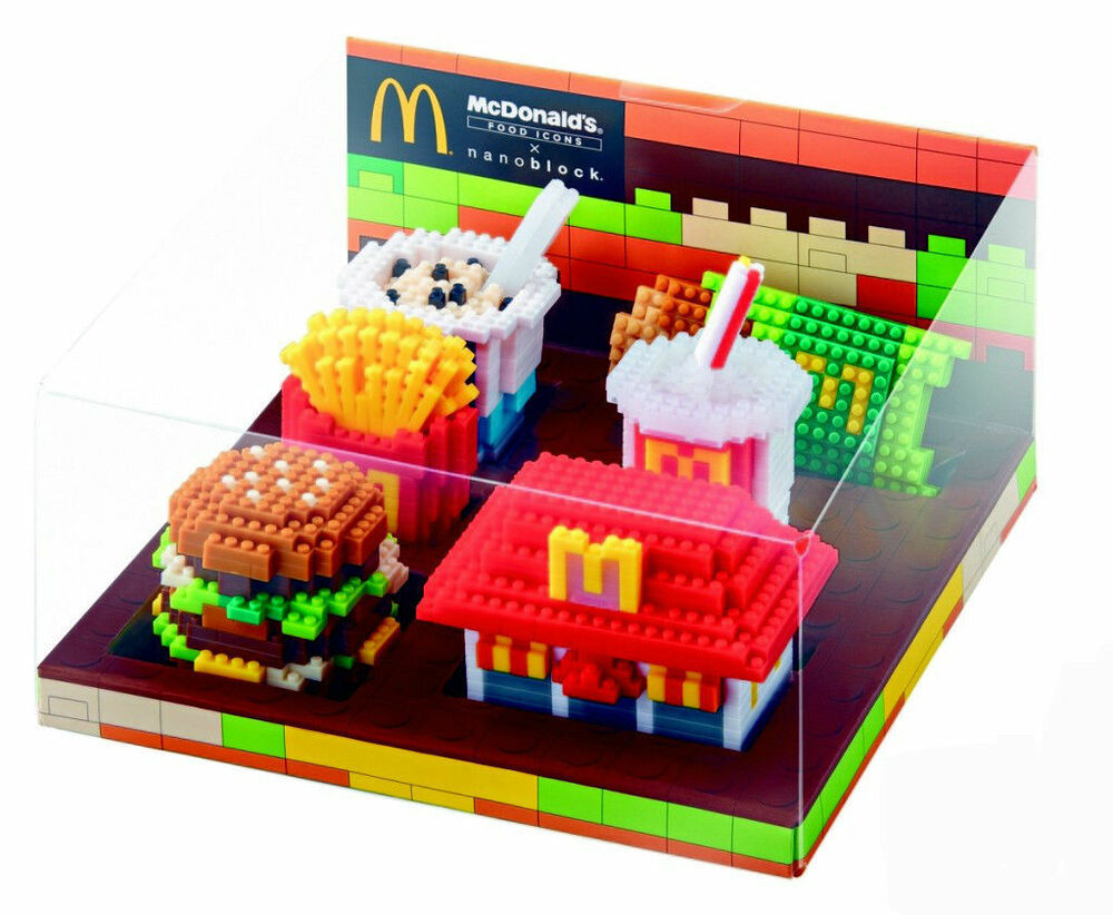 Lego Toy Food : Mcdonalds food icon limited nano block exclusive lego toys