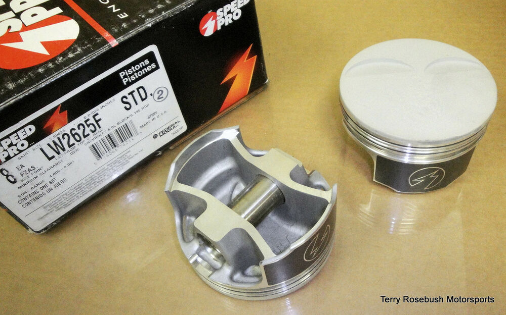 Speed-Pro LW2625F-STD PowerForged Chevy Pistons, 4.00 ...