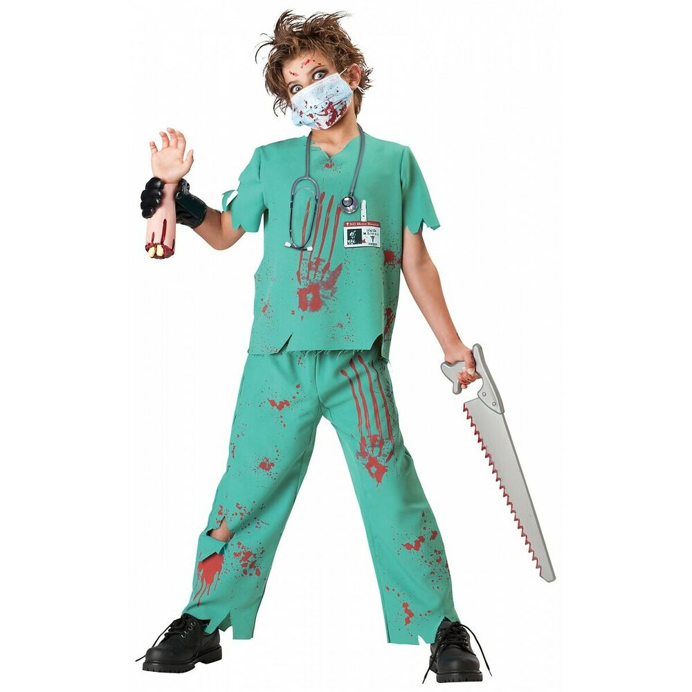 dr n sane costume kids horror doctor scary bloody zombie halloween fancy dress ebay - Kids Doctor Halloween Costume