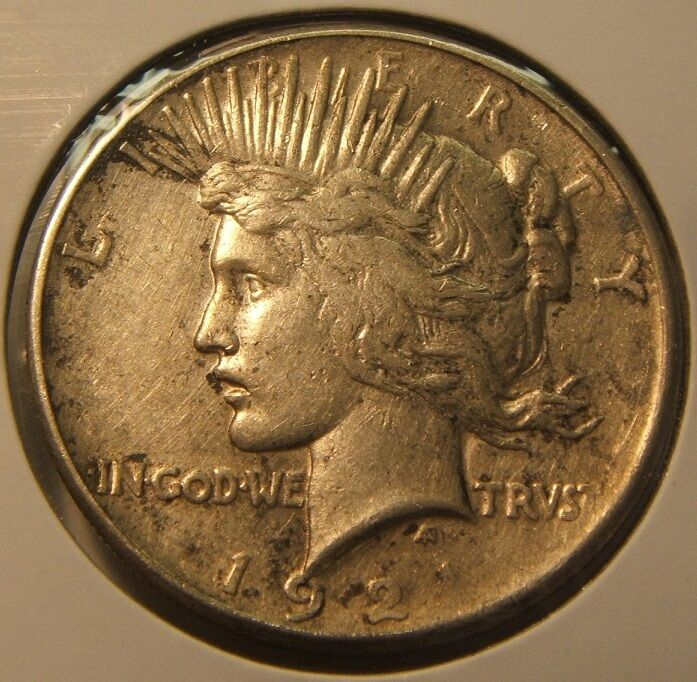 1921 P Peace Silver Dollar Xf Beauty Key Date Coin Ebay