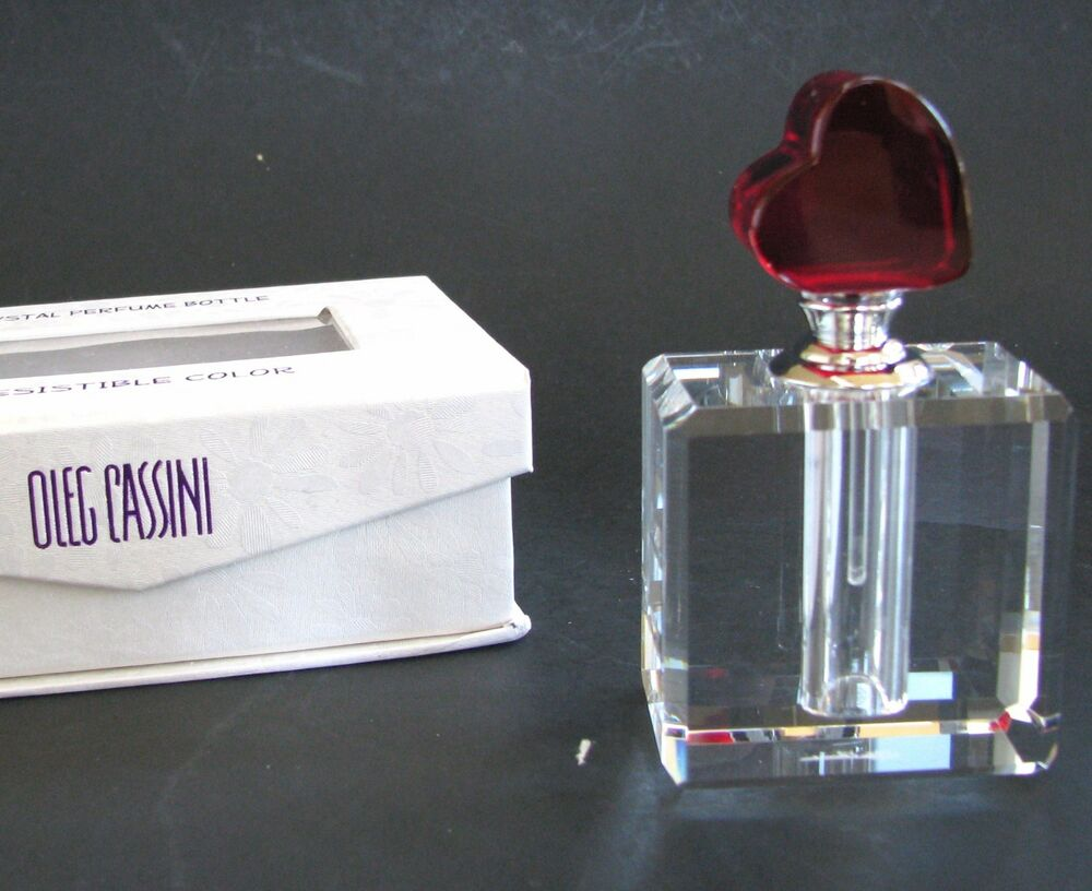 NEW OLEG CASSINI IRRESISTIBLE COLOR CRYSTAL PERFUME BOTTLE ...