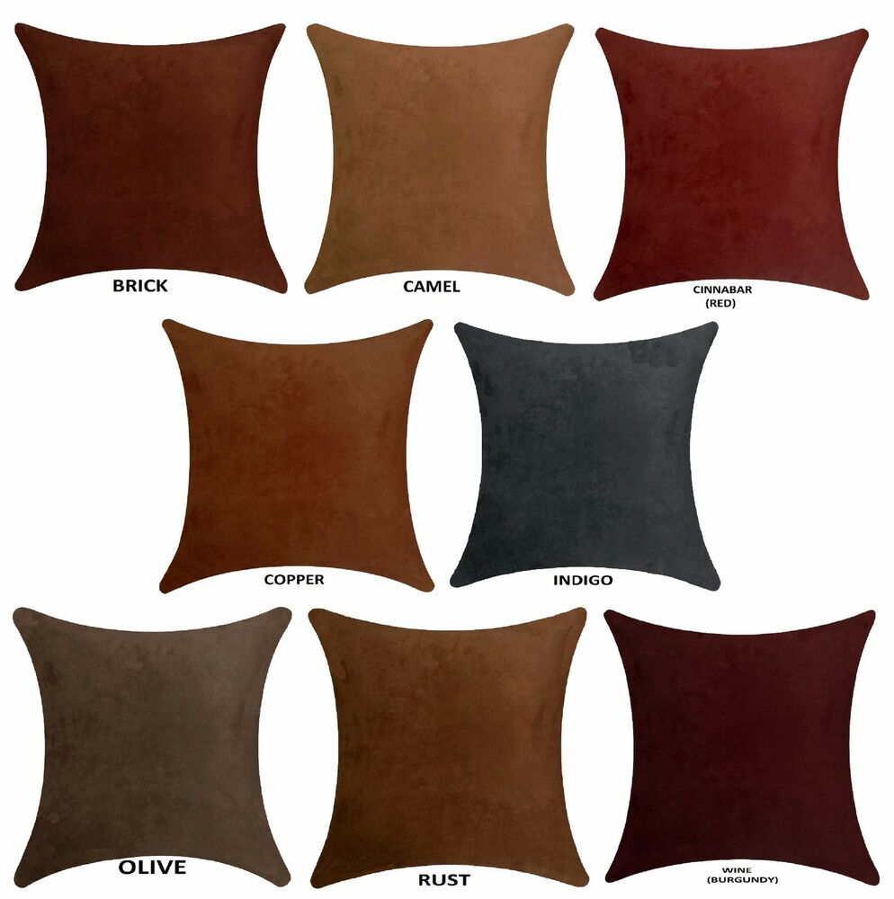 faux suede pillow cover 20 x 20 ebay. Black Bedroom Furniture Sets. Home Design Ideas