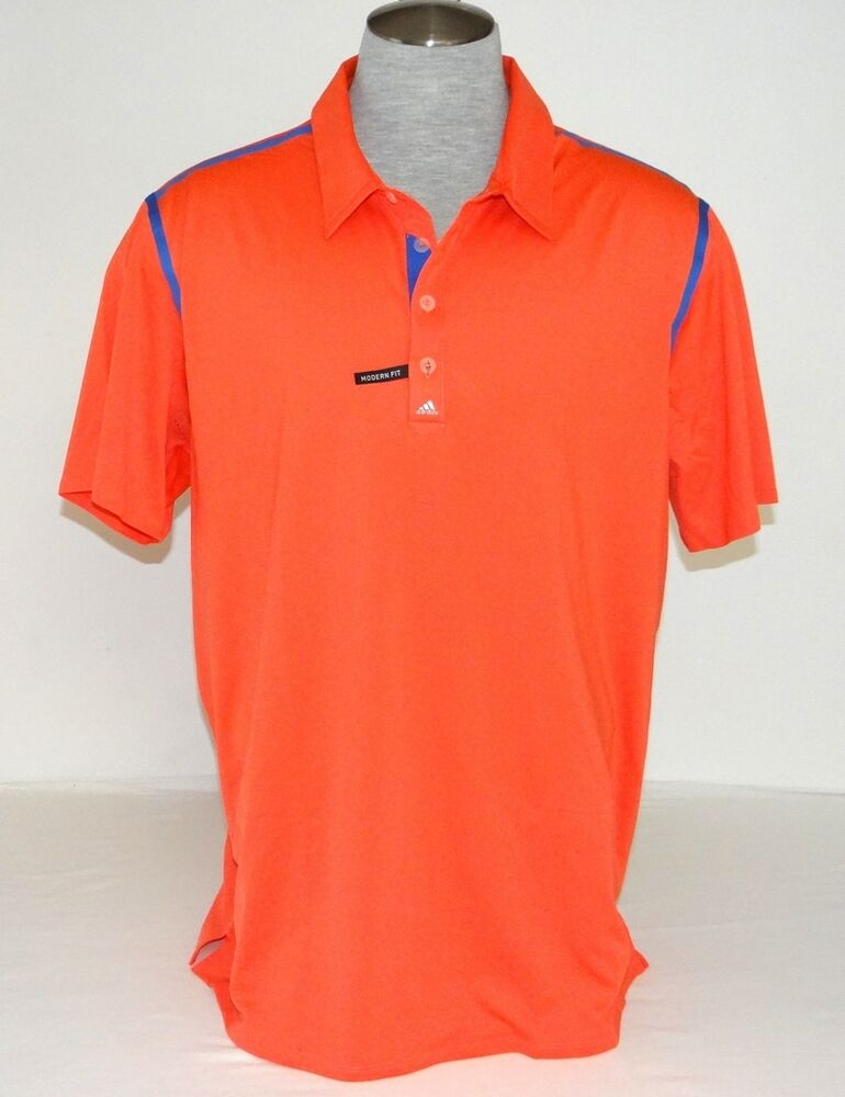 Adidas Golf Coolmax Pure Motion Coral Short Sleeve Polo