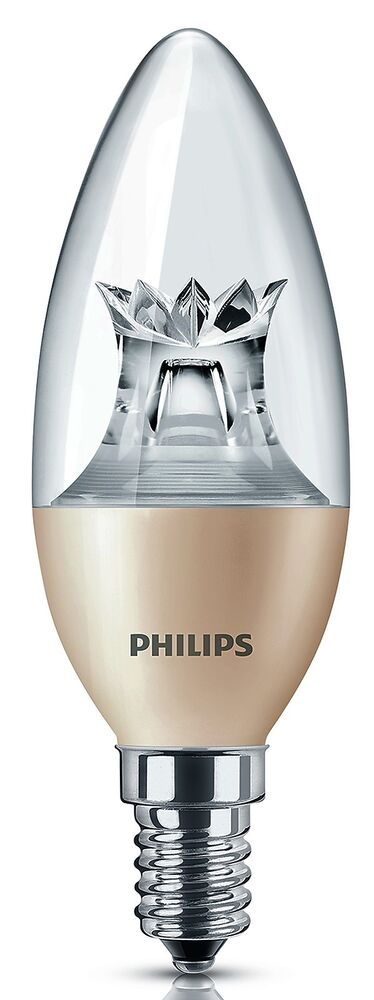 philips 4 6 watt led kerze e14 birne lampe leuchte dimtone energiesparlampe ebay. Black Bedroom Furniture Sets. Home Design Ideas