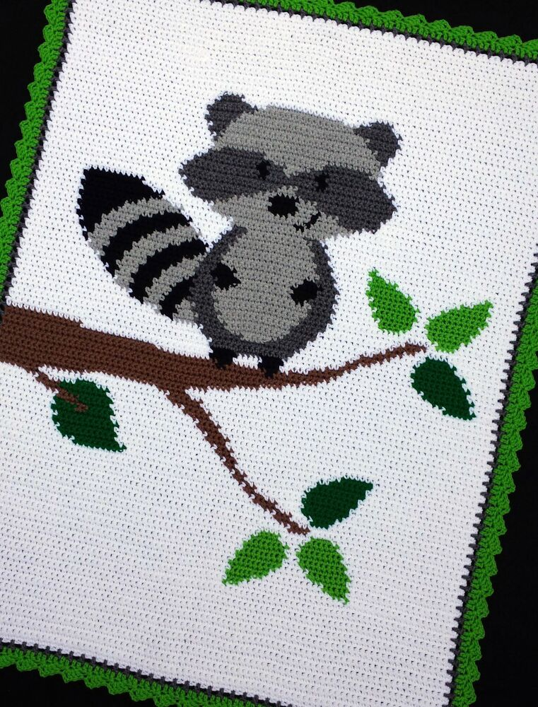 Crochet Patterns Raccoon In A Tree Woodland Forest Baby