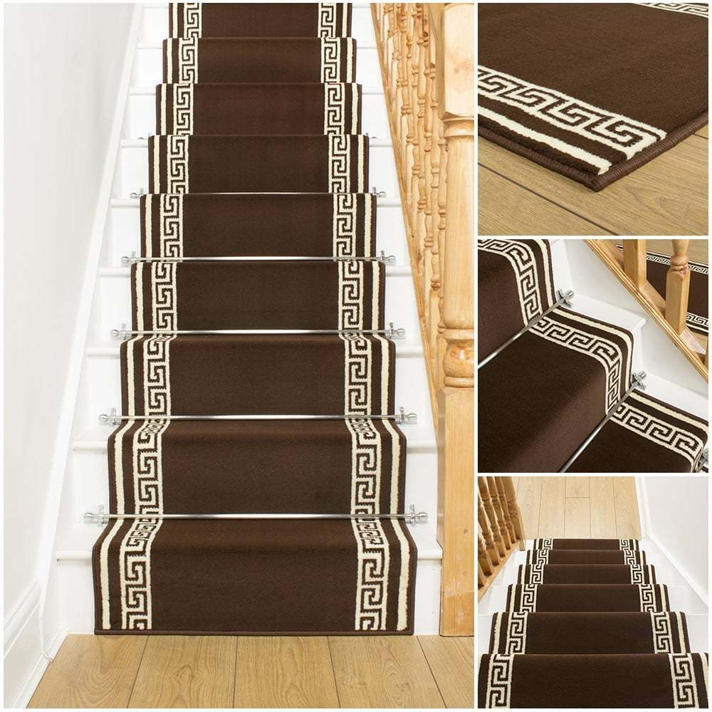 Key Brown Stair Carpet Runner For Narrow Staircase