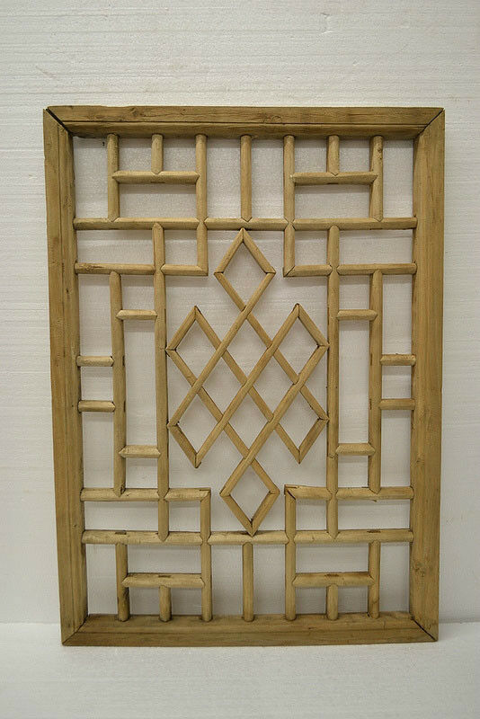 Simple chinese antique carved wooden panel shutter wall art home decor de04 02b ebay - Wooden panel art ...