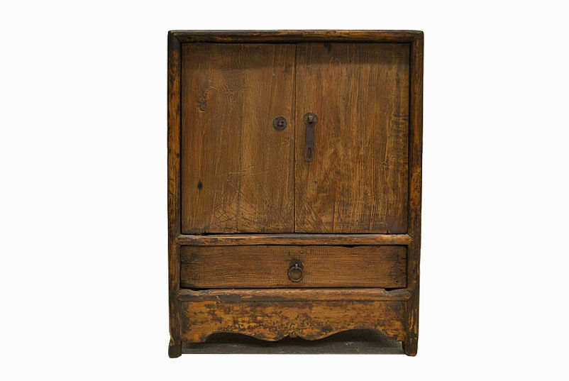 Chinese Antique Small Wooden Side End Table Cabinet With Door Drawer Jul26 05 Ebay