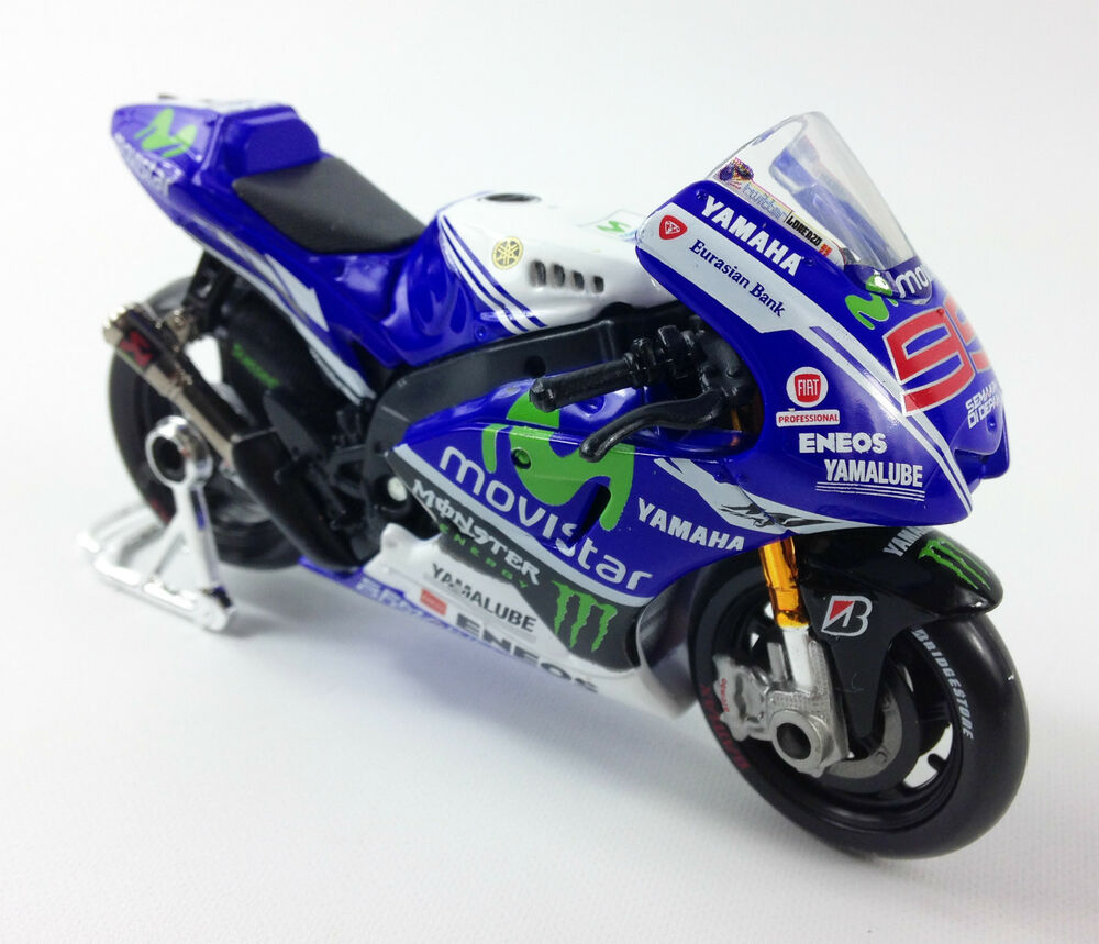 jorge lorenzo factory yamaha yzr m1 moto gp die cast toy. Black Bedroom Furniture Sets. Home Design Ideas