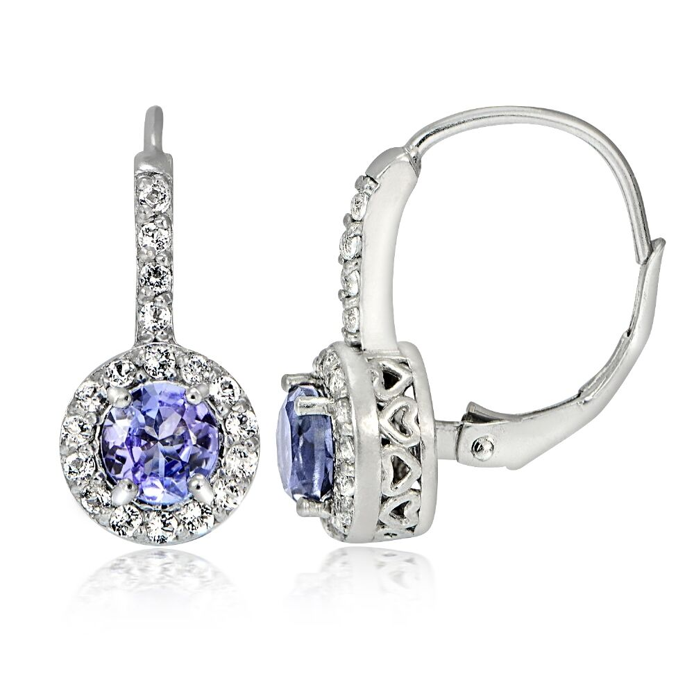 what are leverback earrings sterling silver 2ct tanzanite white topaz 4796