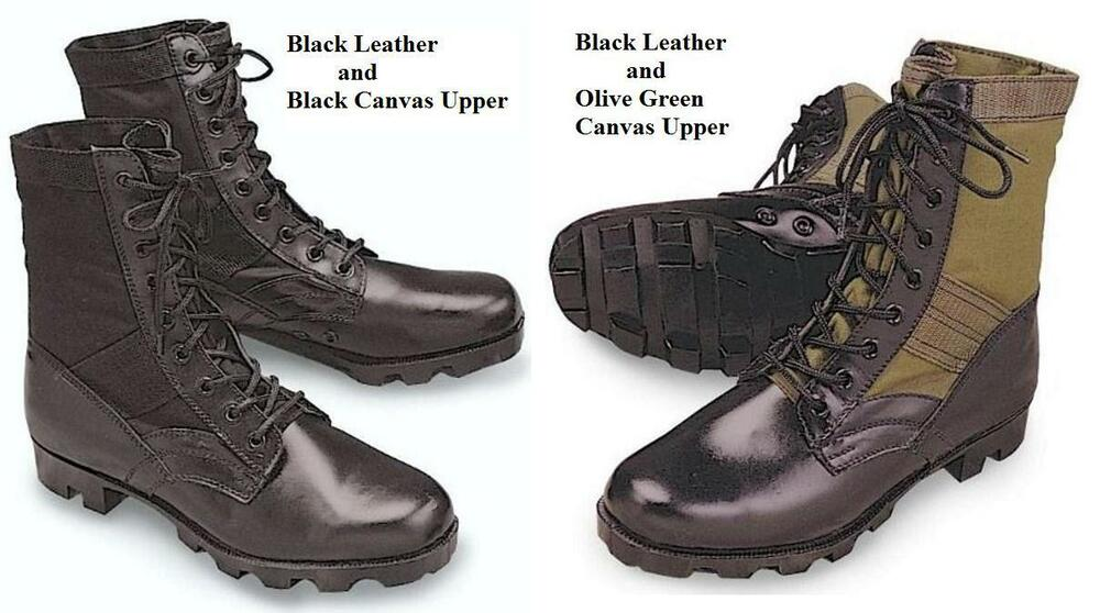Vintage Style JUNGLE Military BOOTS US Army Marine Corps ...