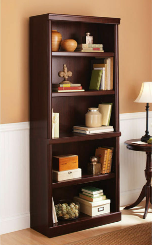Cherry Wood Bookcases ~ Shelf cherry bookcase wooden book case storage shelves