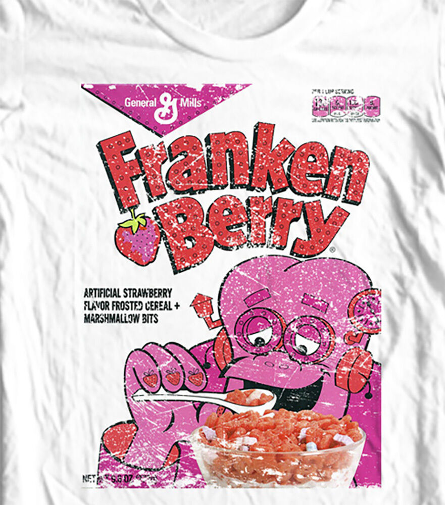 FrankenBerry Retro Cereal Box T-shirt Boo-Berry Count