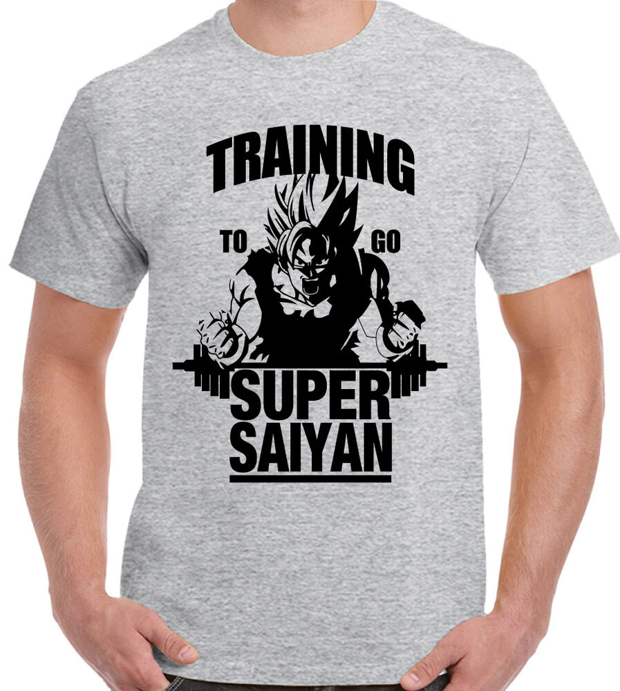 training to go super saiyan mens t shirt dragon ball z. Black Bedroom Furniture Sets. Home Design Ideas