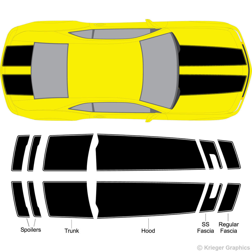 Chevy Camaro Bumblebee Style Rally Racing Stripes 3M ...