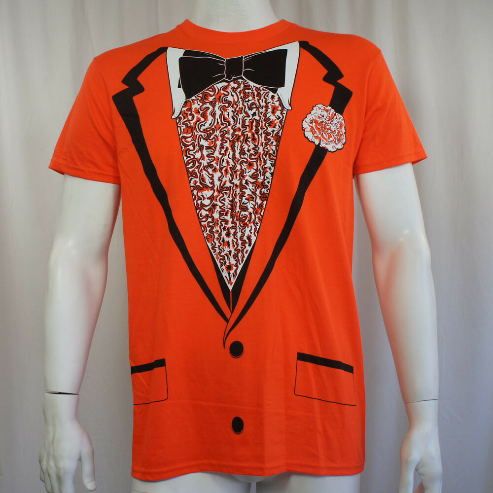 Tuxedo orange tux bow tie retro prom costume dumb dumber for Costume t shirts online