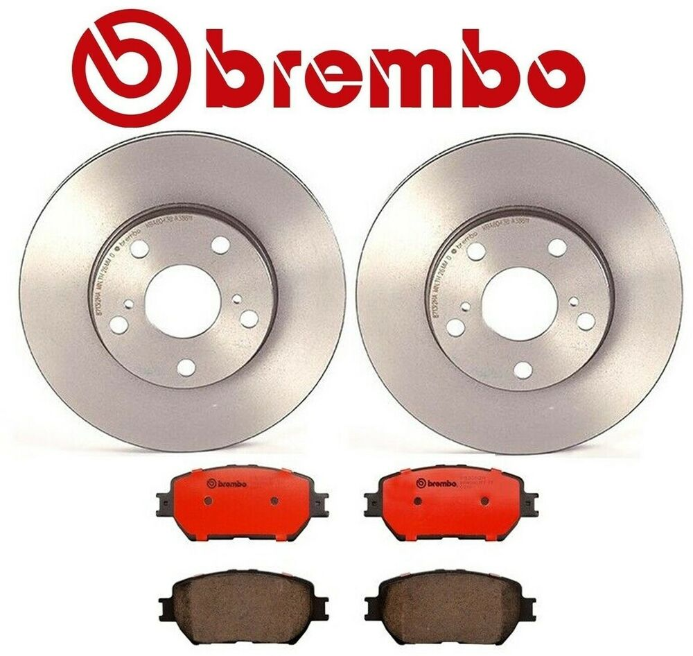 genuine brembo set front rotors brake pads toyota camry 2001 2006 ebay. Black Bedroom Furniture Sets. Home Design Ideas