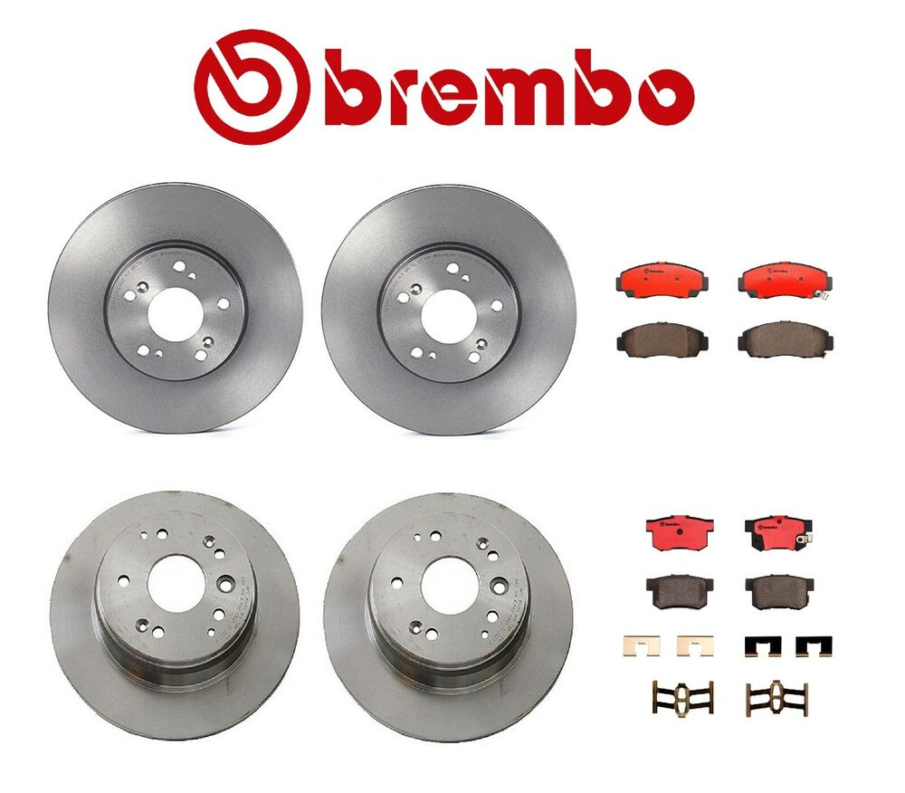Genuine Brembo Set Rotors + Brake Pads 99-08 (2-Front & 2-Rear) Acura TL | eBay