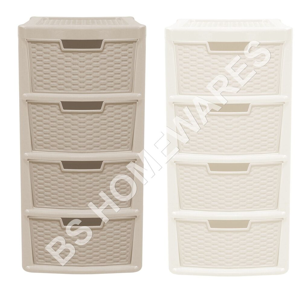 New plastic storage drawer unit cabinet 3 4tier organizer - Bedroom storage cabinets with drawers ...