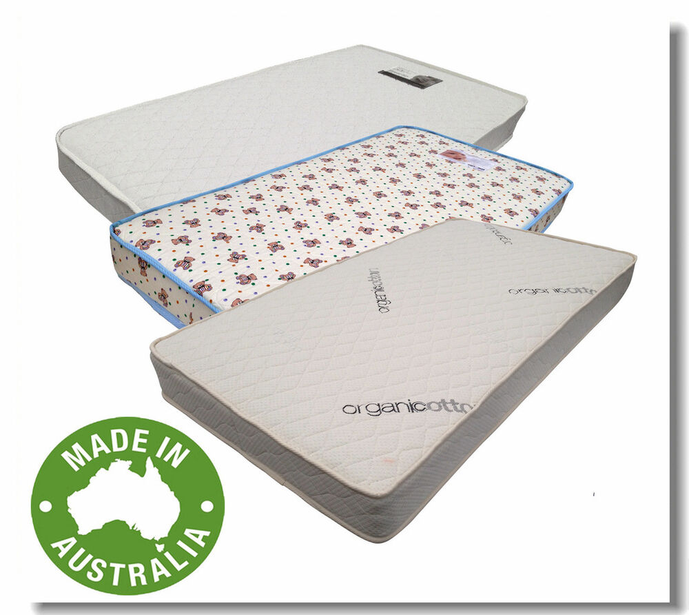 Brand New Australia Made Cot Mattress In Foam Inner Spring