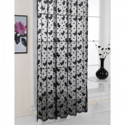 ... Patterned Lace Living Room Panel Window Curtains Sheers | eBay