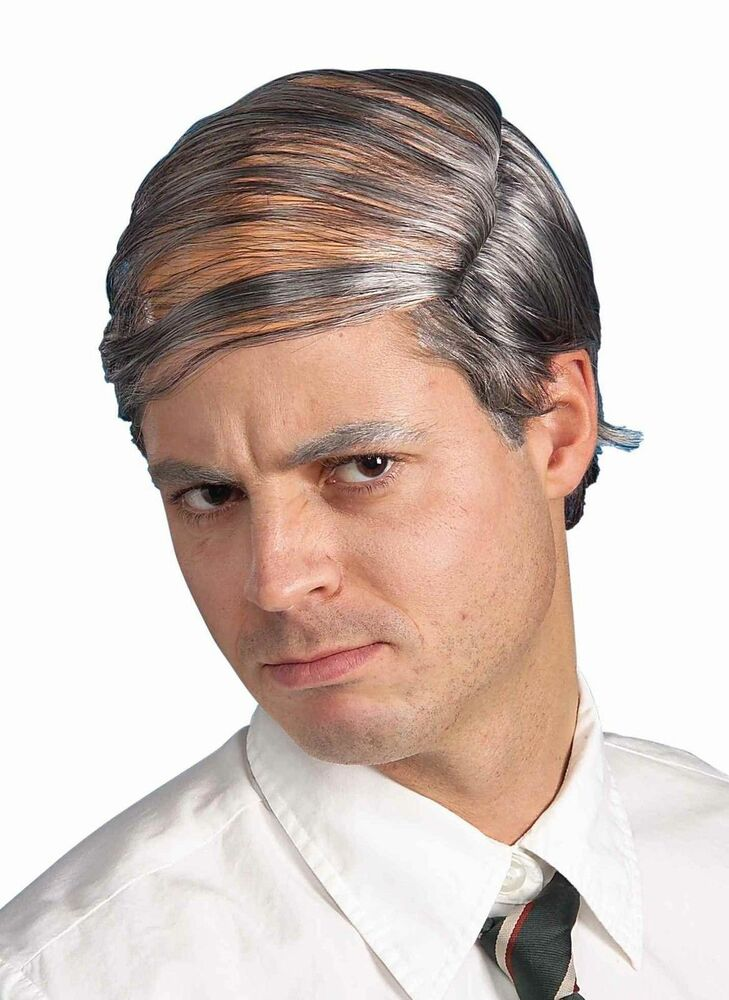 Combover Bald Balding Wig Grey Old Man Halloween Over The