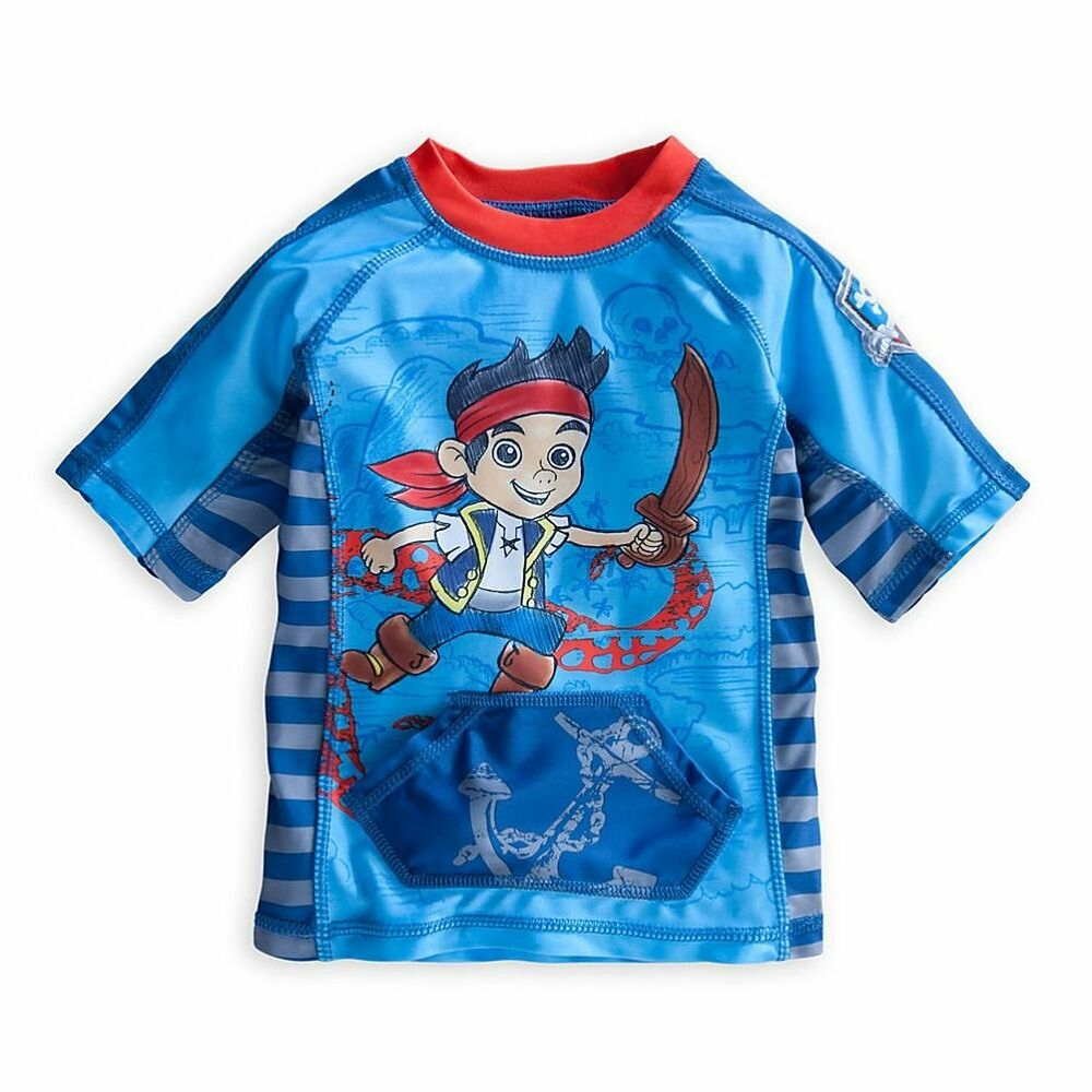 Disney store jake and the never land pirates rash guard for What is a rash shirt