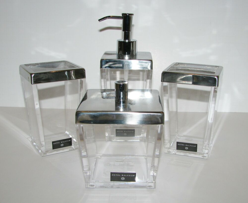 New Hotel Balfour 4 Pc Set Clear Acrylic Soap Dispenser