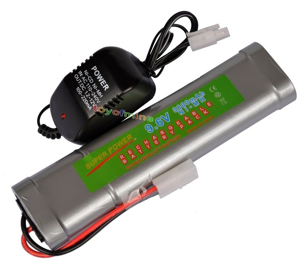 9 6v nimh 3800mah rechargeable battery pack tamiya plug charger ebay. Black Bedroom Furniture Sets. Home Design Ideas