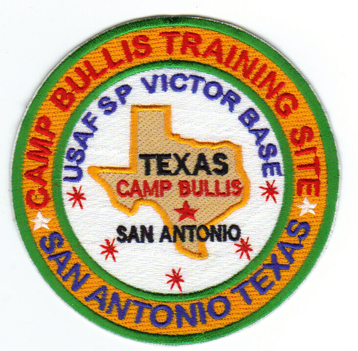 San Antonio Coroplast Signs Camp Bullis Floresville: USAF BASE PATCH, CAMP BULLIS TNG SITE , USAF SP VICTOR