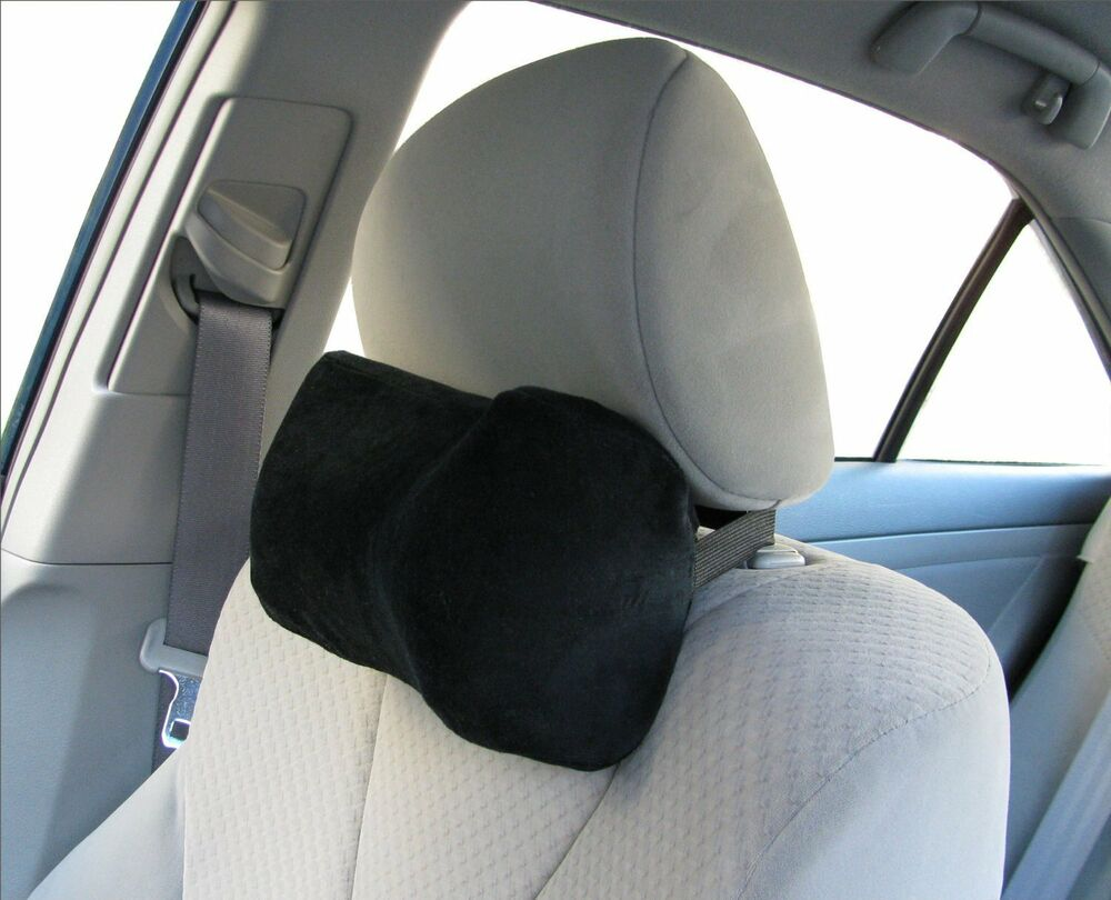 car neck rest support comfort pillow travel car memory foam seat sleep black new ebay. Black Bedroom Furniture Sets. Home Design Ideas
