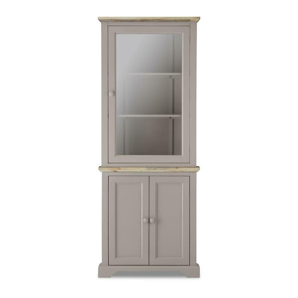 Kitchen Display Cabinet: FLORENCE Truffle Corner Glass Display Cabinet, Kitchen