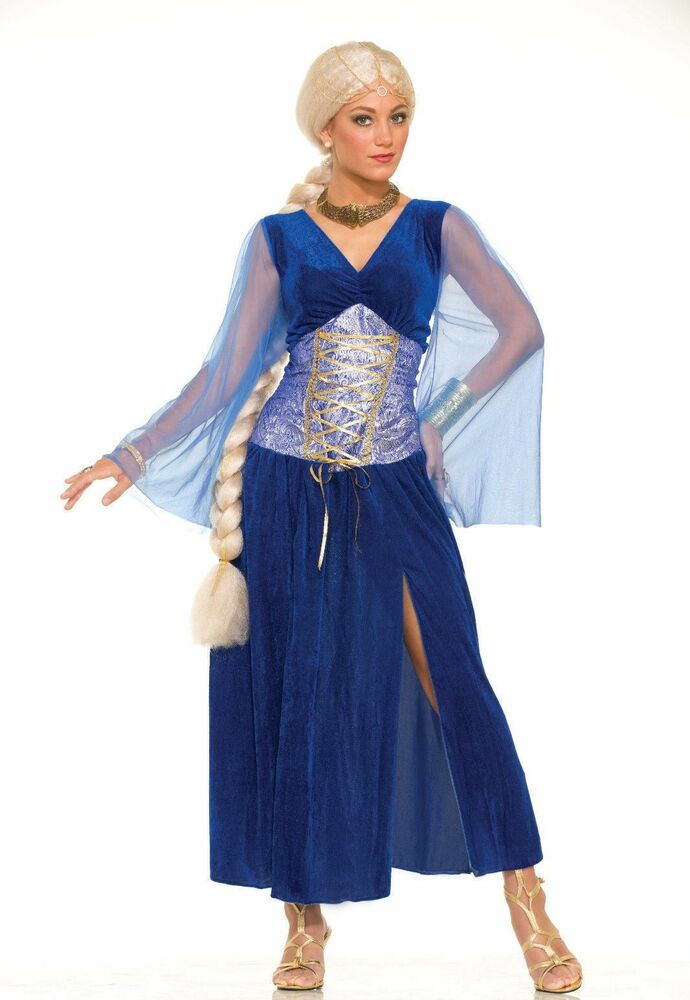 Sapphire Game of Thrones Medieval Fancy Dress Costume Adult Womens ...: www.ebay.com/itm/Sapphire-Game-Of-Thrones-Medieval-Fancy-Dress...