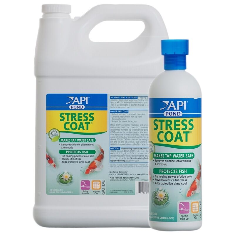 Api Pondcare Stress Coat Plus Fish Tap Water Conditioner