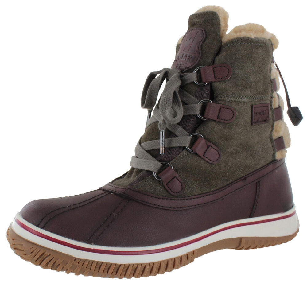 pajar iceland s duck snow boots shearling waterproof