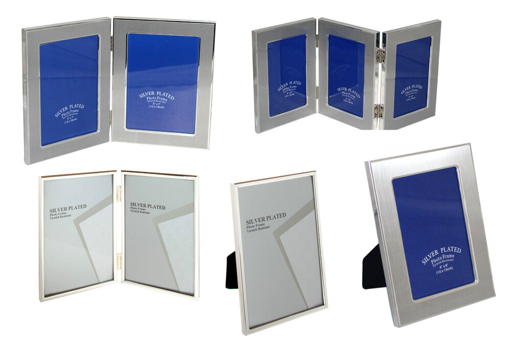 silver plated 5 x 7 4 x 6 8 x 10 picture frame photo frame ebay. Black Bedroom Furniture Sets. Home Design Ideas