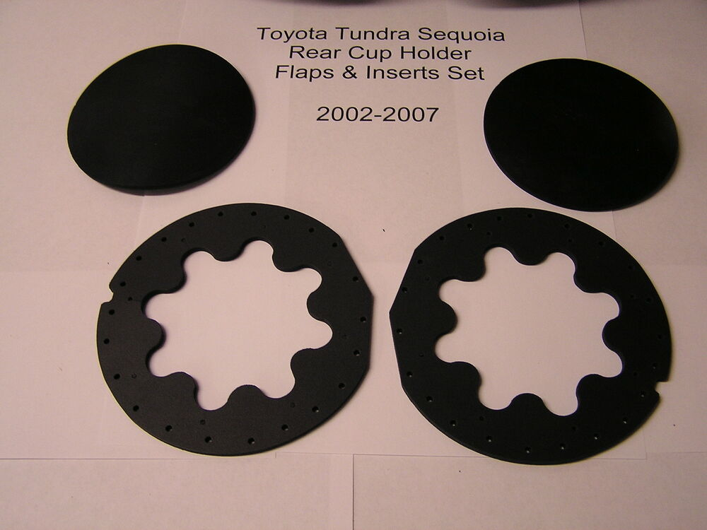 Toyota Tundra Sequoia Console Rear Cup Holder Inserts Pads