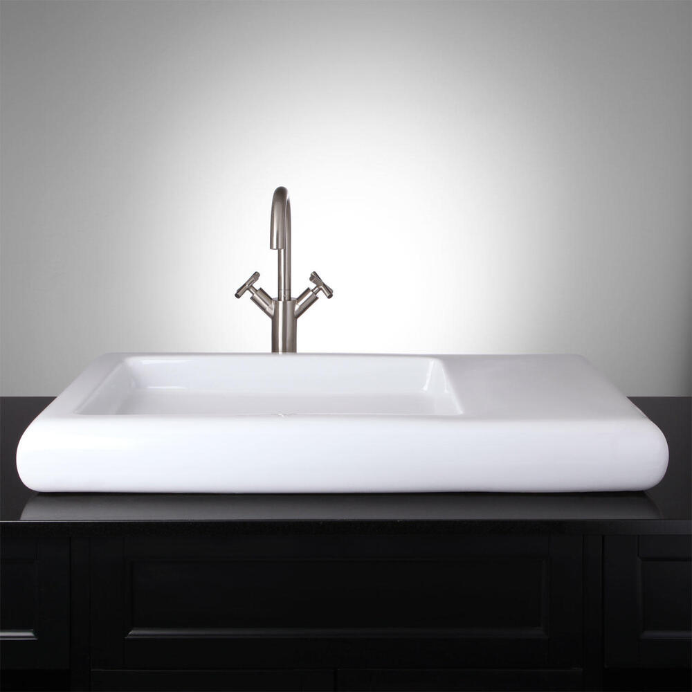 rectangular bathroom sink topmount signature hardware rectangular porcelain vessel sink 20115