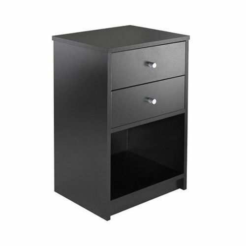 Black Night Stand End Table Bedroom Furniture Bedside