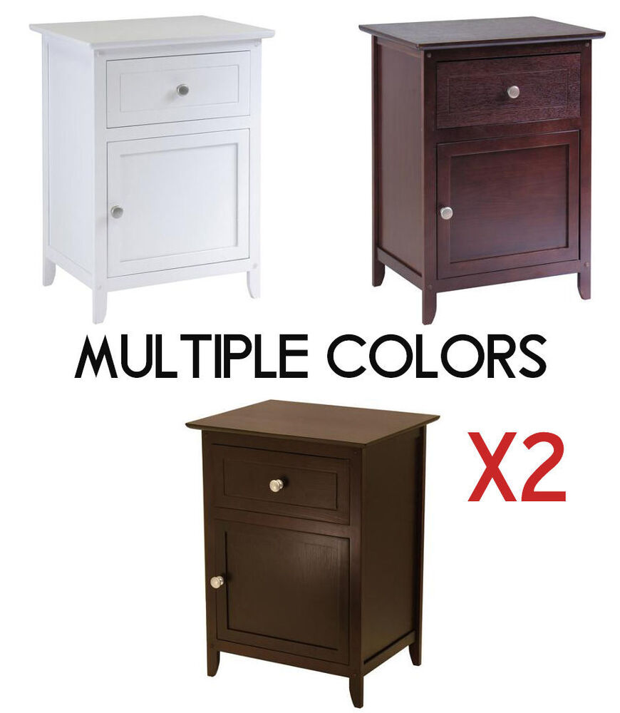 Nightstand end table drawer bedroom cabinet furniture for Multi night stand